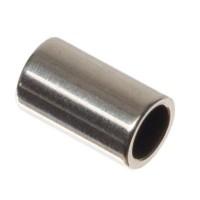 Metallperle Röhre, ca. 5 x 3 mm, versilbert