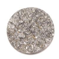 Polaris Goldstein Cabochon, rund, 12 mm, weiß