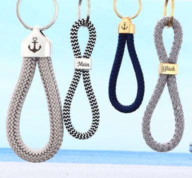 Schlüsselanhänger mit Gravur für 5 mm Segeltau