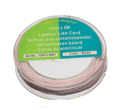 Baumwollband 1 mm, 5-Meter-Spulen