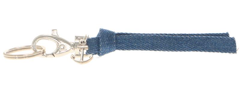 Schlüsselanhänger aus Jeansband Anker
