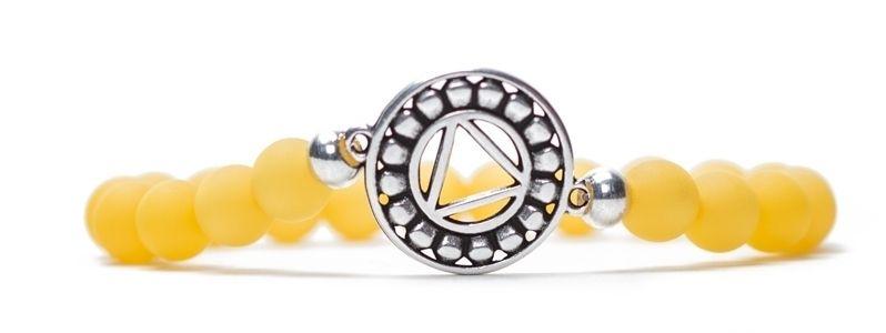 Armband Solarplexuschakra versilbert gelb