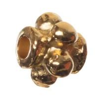 Metallperle Spacer Tonne, ca. 5 mm, vergoldet