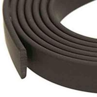 Flaches PVC-Band 25 x 2 mm, schwarz, 1 m