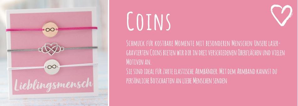 Armbänder mit Coins