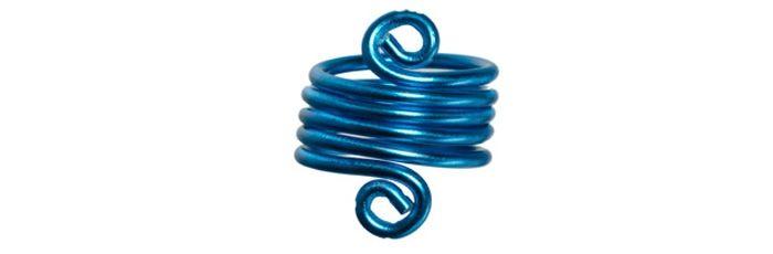 Spiral-Ring Blau