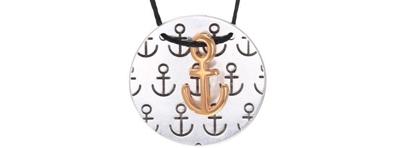 Maritime Kette Anker Versilbert