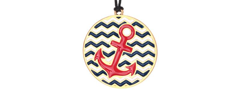 Maritime Kette Anker Rot
