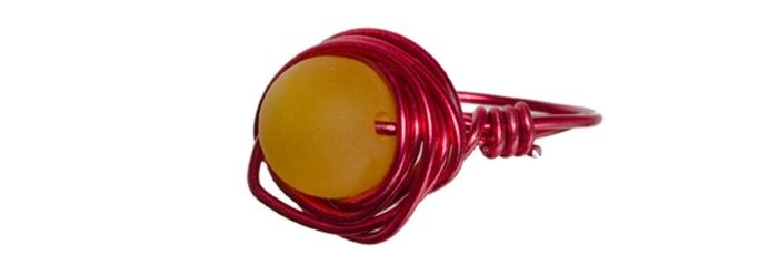 Wickel-Ring Rot-Gelb