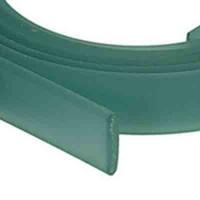 Flaches PVC-Band 10 x 2 mm, maigrün, 1 m