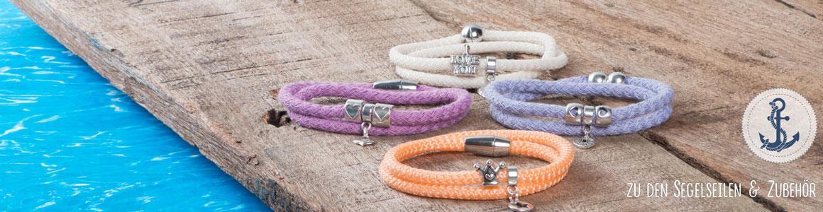 Ideen für Armbänder mit Segelseil