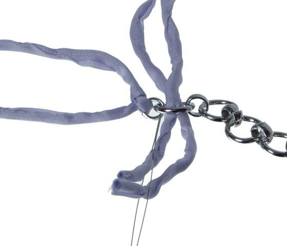 Geflochtenes Seidenarmband selber machen Schritt 5
