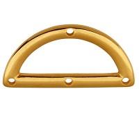 Metallanhänger Halbkreis mit vier Löchern, 14,5 x 29 mm, vergoldet