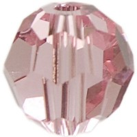 Swarovski Elements, rund, 6 mm, light rose