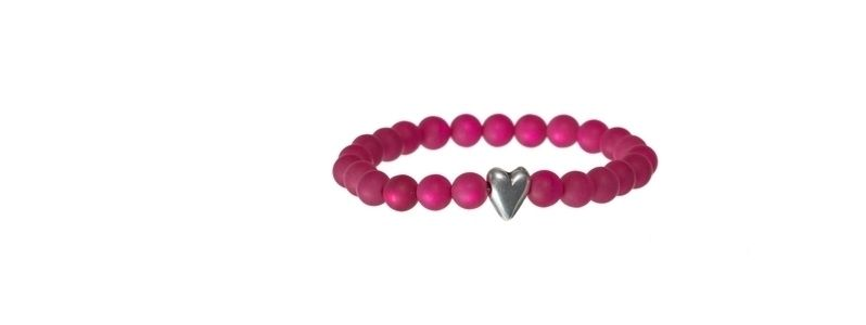 Armband mit Metallperle Herz
