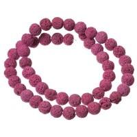 Strang Lavaperlen, rund, 8 mm, pink