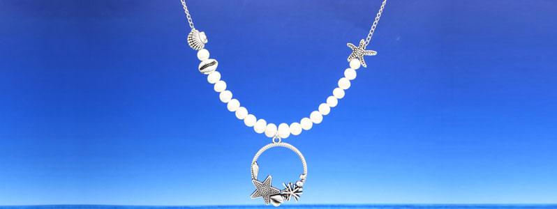 Kette für Meerjungfrauen mit Zuchtperlen