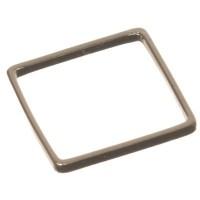 CM Metallanhänger Viereck, 10 x 10 mm, silberfarben