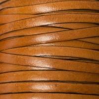 Breites Lederband, 5 mm x 1 mm, Länge 1 m, hellbraun