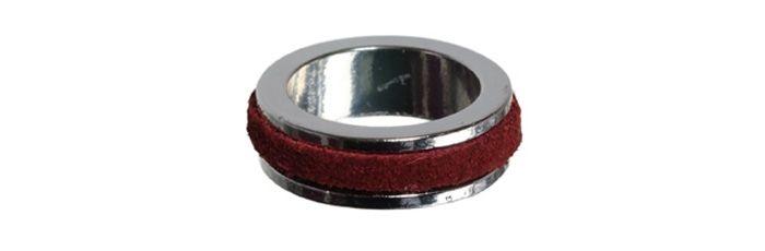 Decorate Ring Leder Rot
