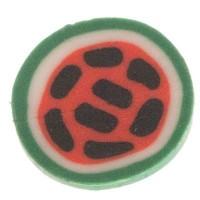 Polymer Clay Cabochon, Melone, 10 x 1,8 mm