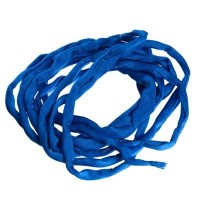 Habotai-Seidenband, Durchmesser 3 mm, Länge 110 cm, dunkelblau
