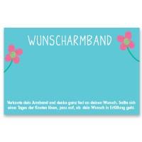 "Schmuckkarte ""Wunscharmband"", quer, türkisblau, Größe 8,5 x 5,5 cm"