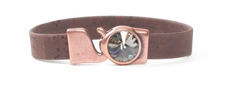Armband breites Korkband Rivoli Braun