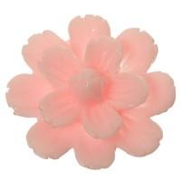 Kunststoffcabochon Blume, 21 x 8,5 mm, rosa