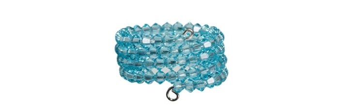 Memory Wire Ring Light Turquoise