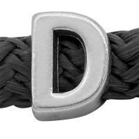 Grip-It Slider Buchstabe D, für Bänder bis 5mm Durchmesser, versilbert