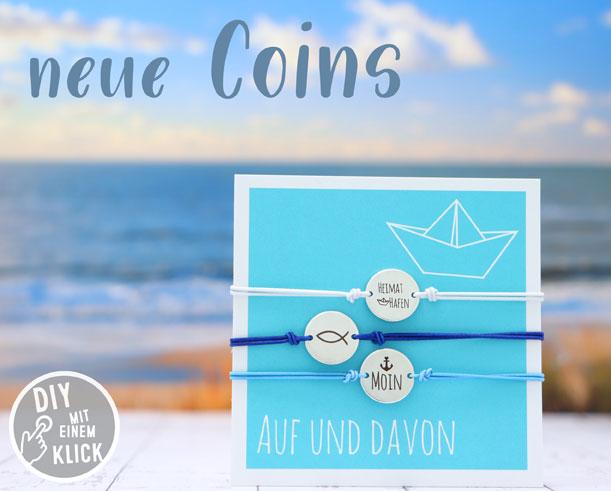 Coins für Armbänder