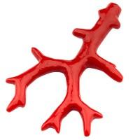 Resinanhänger Korallenast, rot, 59,5 x 37,5 mm