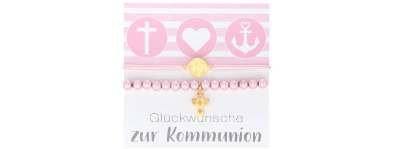 Armbänder zur Kommunion Kreuz und Jesus