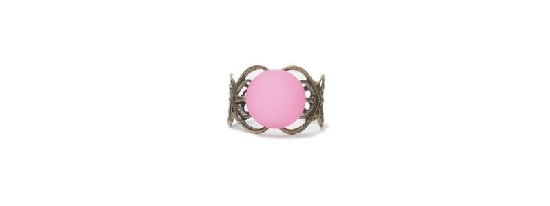 Ring mit  Cabochon Polaris Rose