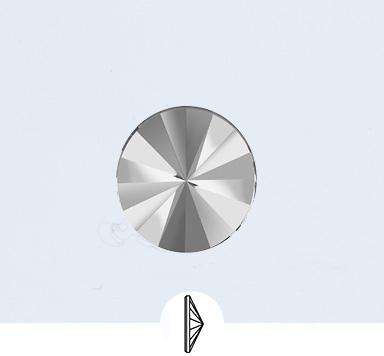 Preciosa 10 mm Rivoli Flat Back Stone