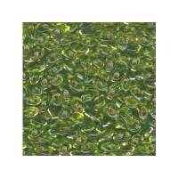Miyuki Long Magatama 4 x 7 mm, s / l chartreuse, ca. 8,5 gr