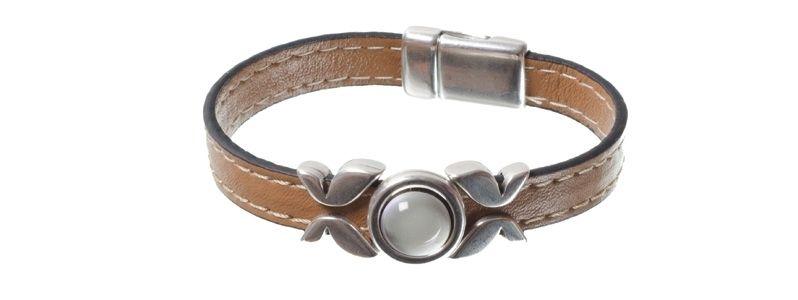Lack-Armband Braun