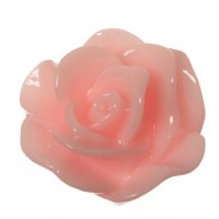 Kunststoffcabochon Rose, 13 x 7 mm, rosa