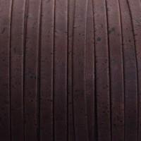 Korkband, flach, Breite 10 mm, Länge 1 m, dunkelbraun