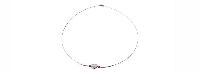 Micro-Magnetverschluss Herz Collier