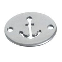 Metallanhänger Armbandverbinder Anker, 21 x 17 mm, versilbert
