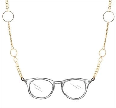 Brillenkette mit geometrischen Elementen machen