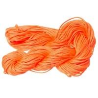 Makramee- und Schmuckband, Durchmesser 2 mm, 10 Meter-Paket, orange