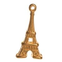 Metallanhänger Eiffelturm, 20 x 10 mm, vergoldet