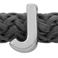 Grip-It Slider Buchstabe J, für Bänder bis 5mm Durchmesser, versilbert