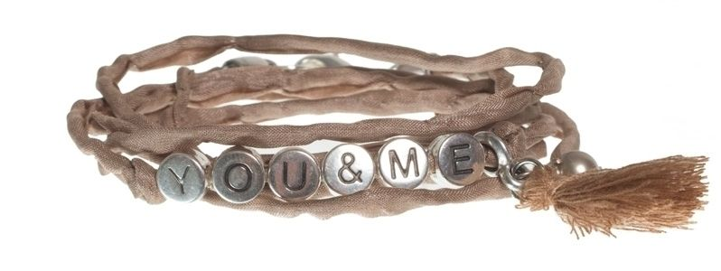 Buchstabenarmband YOU & ME