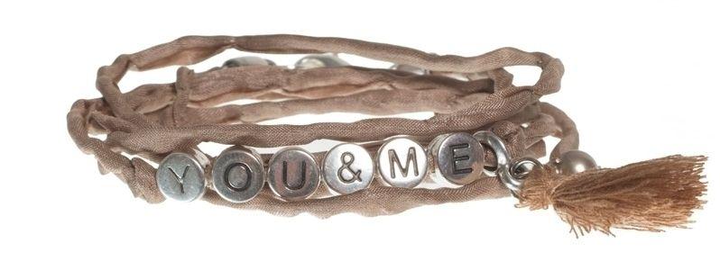 Buchstabenarmband YOU & ME