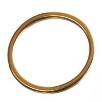 Metallanhänger Kreis, 18 mm, vergoldet