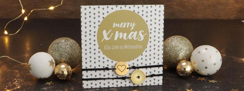 """Weihnachtsarmbänder """"Alles Liebe zu Weihnachten"""""""